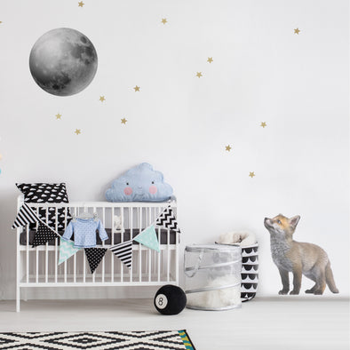 Set Stickers Da Muro Little Fox And His Friend The Moon | DEKORNIK | RocketBaby.it