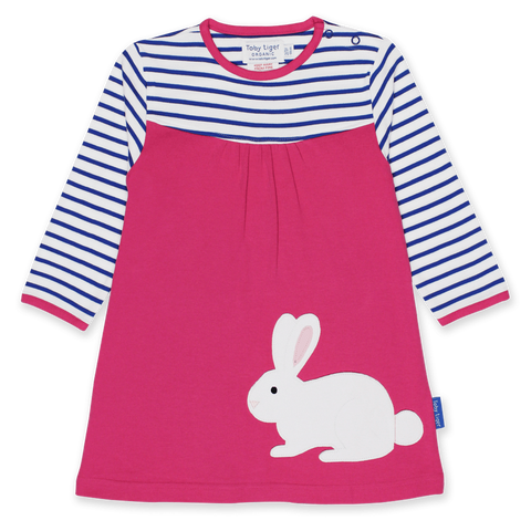 Vestito in Cotone Breton Rabbit Applique | TOBY TIGER | RocketBaby.it