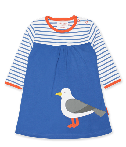 Vestito in Cotone Seagull Applique | TOBY TIGER | RocketBaby.it