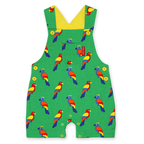 Salopette in Cotone Corta Parrot | TOBY TIGER | RocketBaby.it