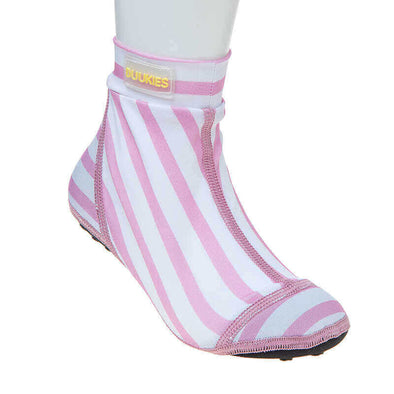 Beach Socks in Neoprene Stripe Pink e White | DUUKIES BEACH SOCKS | RocketBaby.it