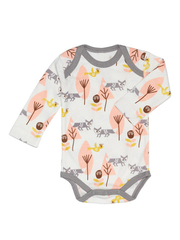 Body a maniche lunghe Volpe Rosa - RocketBaby