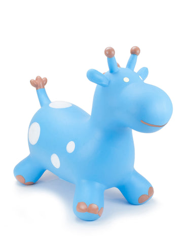 Gonfiabile Cavalcabile Small Blue Giraffe | HAPPY HOPPERZ | RocketBaby.it