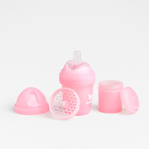 Biberon Anticoliche con Contenitore per il Latte in Polvere 140 ml Pink | HEROBILITY | RocketBaby.it