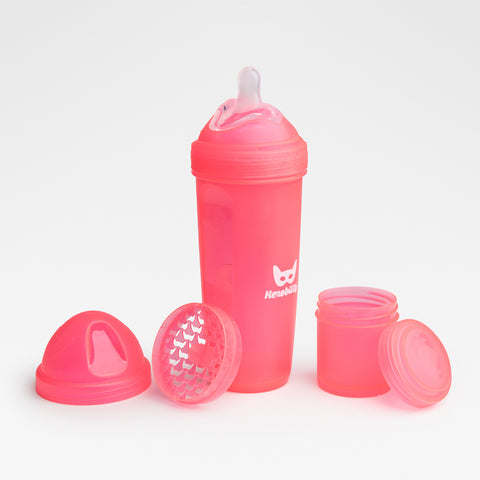 Biberon Anticoliche con Contenitore per il Latte in Polvere 340 ml Coral | HEROBILITY | RocketBaby.it