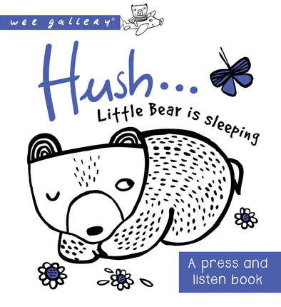 Libro Sensoriale Hush Little Bear is Sleeping | WEE GALLERY | RocketBaby.it