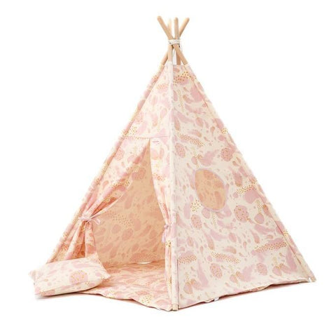 Set Tenda Teepee Gold Hearts | WIGIWAMA | RocketBaby.it