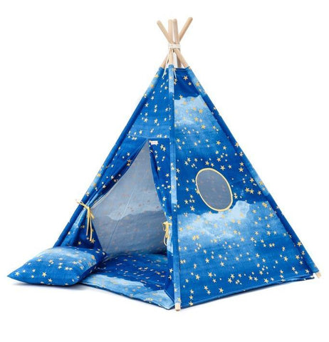 Set Tenda Teepee Gold Stars | WIGIWAMA | RocketBaby.it