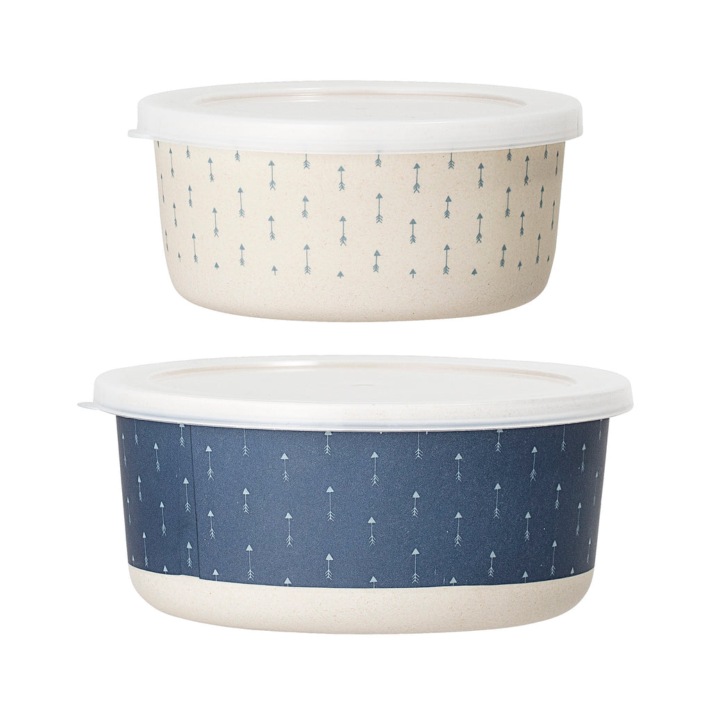 Set 2 Lunch Box in Bamboo Blue | BLOOMINGVILLE | RocketBaby.it