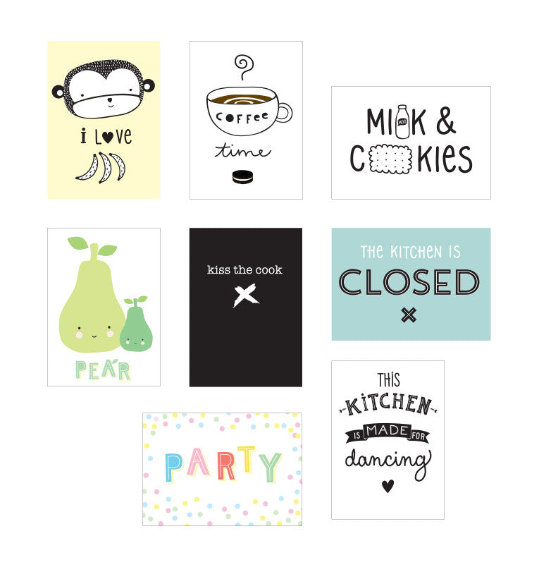 A LITTLE LOVELY COMPANY-Poster per Box Lampada: Cucina – RocketBaby.it