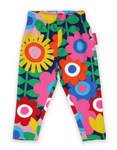 Pantaloni in Cotone Navy Flower Power | TOBY TIGER | RocketBaby.it