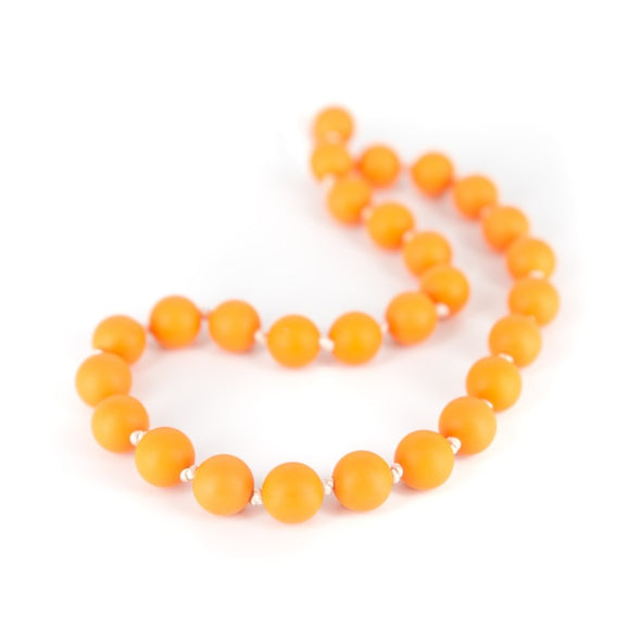 Collana da Mordere per Dentizione Macaron Shorty Mango | LOLLIPOPS AND MORE | RocketBaby.it