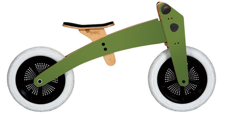 Bici-trciclo in legno verde | WISHBONE | RocketBaby.it