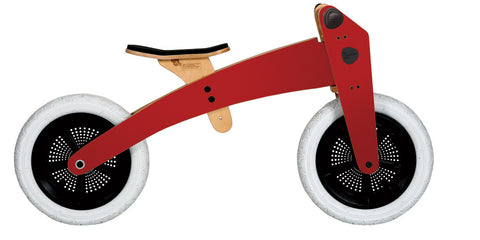 Bici-trciclo in legno rossa - RocketBaby - 1