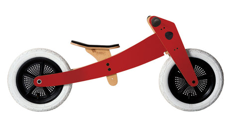 Bici-trciclo in legno rossa - RocketBaby - 2