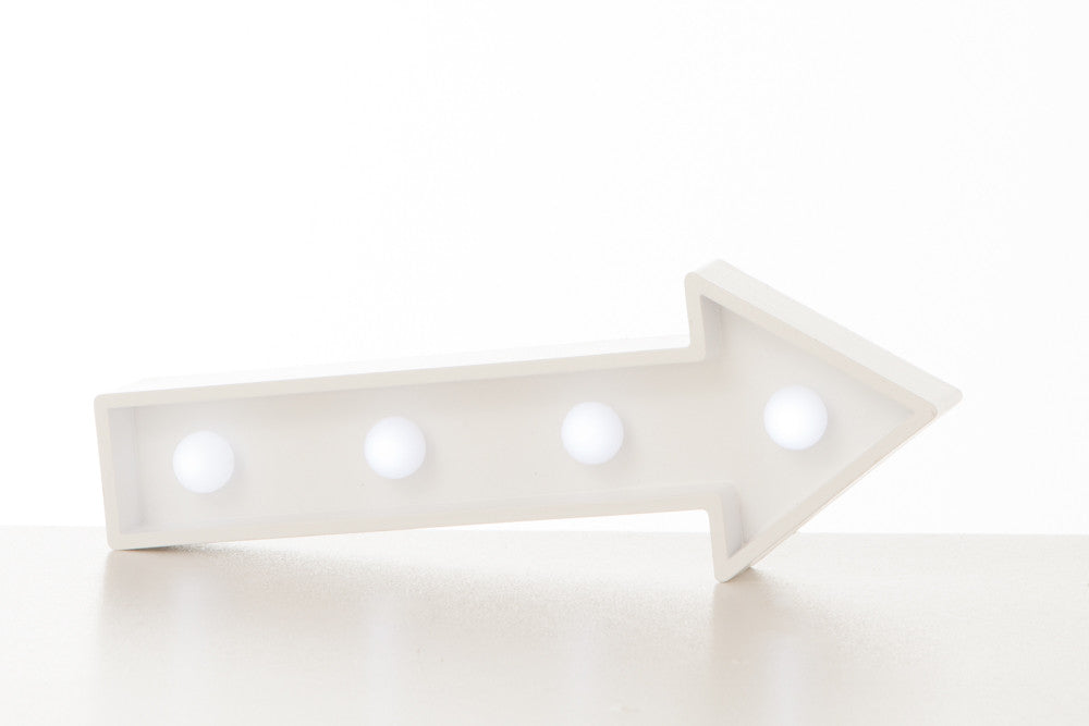 Lampada Marquee LED Freccia Bianca - RocketBaby - 1