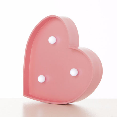 Lampada Marquee LED Cuore Rosa - RocketBaby - 2