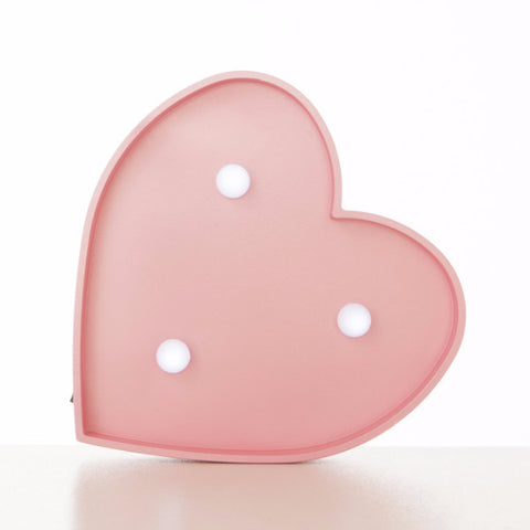 Lampada Marquee LED Cuore Rosa - RocketBaby - 1