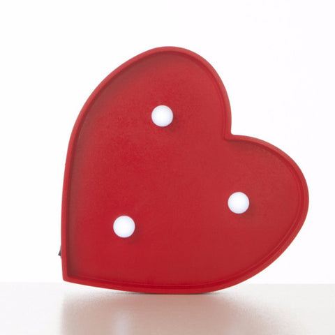 Lampada Marquee LED Cuore Rosso - RocketBaby - 1