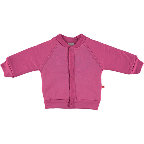 Felpa a Cardigan Magenta - LIMOBASICS - RocketBaby.it - RocketBaby