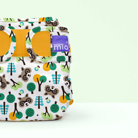 Cover per Pannolino Lavabile Miosoft Raccoon Retreat | BAMBINO MIO | RocketBaby.it