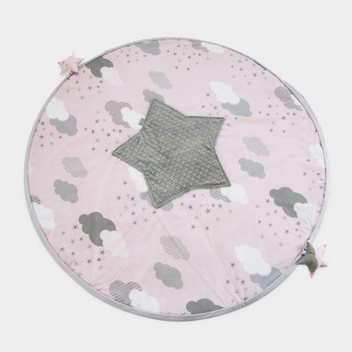 Tappeto Imbottito e Sacco Portagiochi 2 in 1 Rosy Puffs | TINY STAR | RocketBaby.it