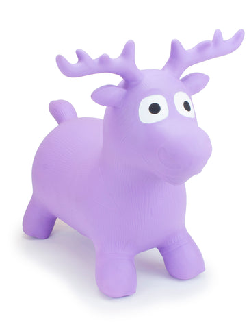 Gonfiabile Cavalcabile Medium Purple Moose | HAPPY HOPPERZ | RocketBaby.it