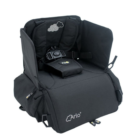 Seggiolino Portatile 2 In 1 Arlo Black | NIU | RocketBaby.it
