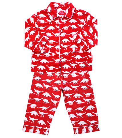 Pigiama Maschietto Dinosauri Rosso | TOBY TIGER | RocketBaby.it