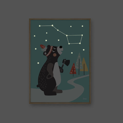 Poster Luminoso Grande Orso | JULICA | RocketBaby.it
