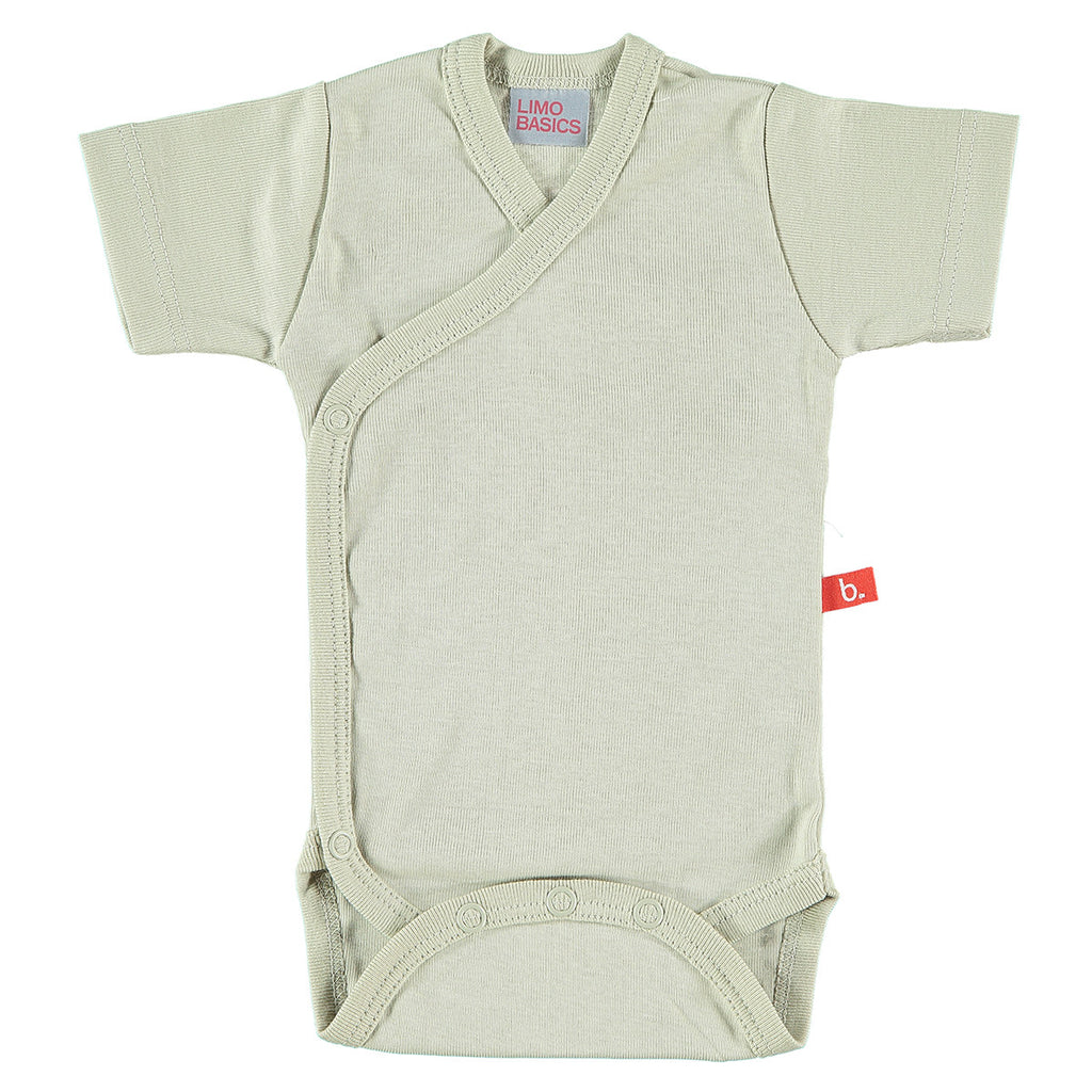 Body Kimono a Manica Corta (Beige) | LIMOBASICS | RocketBaby.it