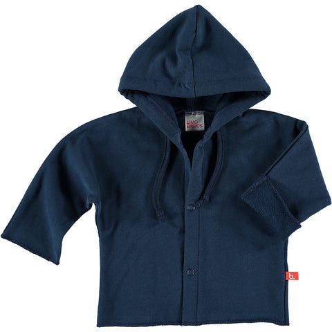 Felpa con Cappuccio (Blu Navy) - LIMOBASICS - RocketBaby.it - RocketBaby