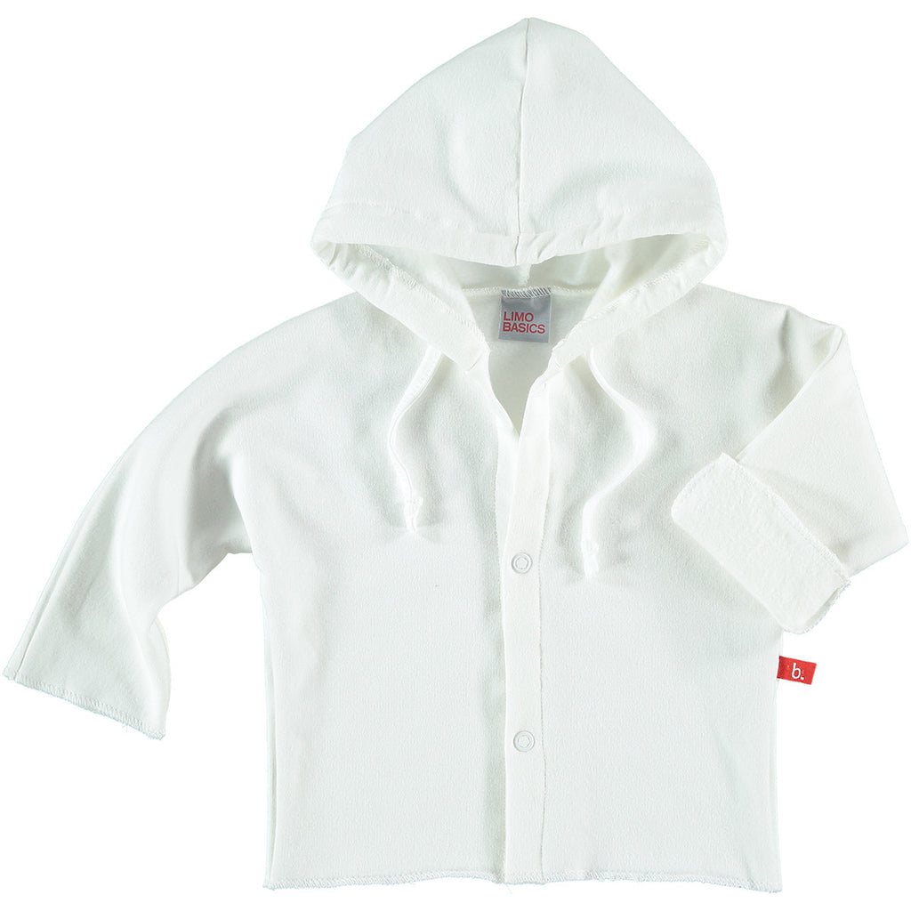 Felpa con Cappuccio (Bianco) - LIMOBASICS - RocketBaby.it - RocketBaby