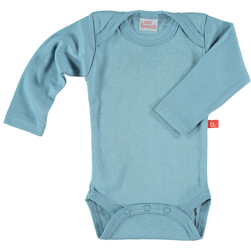 Body Manica Lunga Scollo Tondo (Denim) - RocketBaby