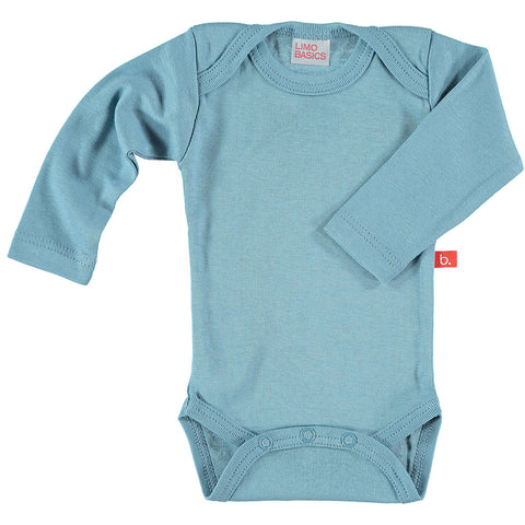 Body Manica Lunga Scollo Tondo (Denim) | LIMOBASICS | RocketBaby.it
