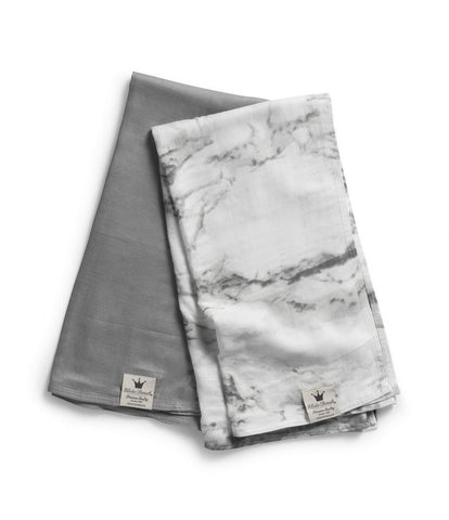 Set 2 copertine SWADDLE Bambù Grigia Marble Grey | ELODIE DETAILS | RocketBaby.it