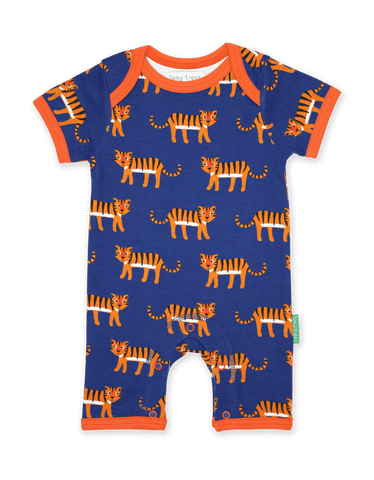 Tutina Corta per l'Estate in Cotone Tiger Print | TOBY TIGER | RocketBaby.it