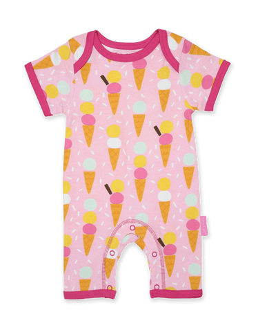 Tutina Corta per l'Estate in Cotone Ice Cream Print | TOBY TIGER | RocketBaby.it