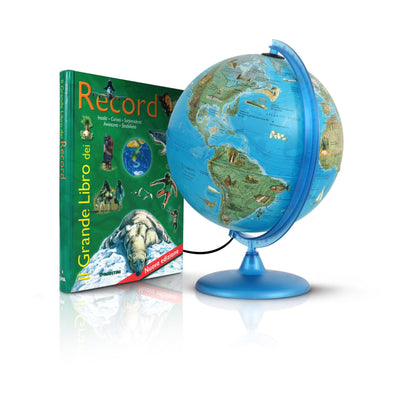 Mappamondo Record 25 cm + Il Grande Libro Dei Record |  | RocketBaby.it