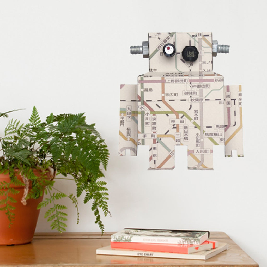 Sticker da muro Robot con mappa subway - RocketBaby - 1