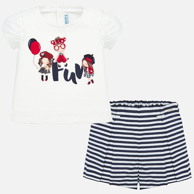 Completo Maglietta e Shorts a Righe Navy | MAYORAL | RocketBaby.it