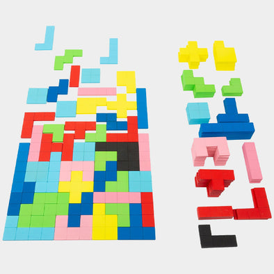 Puzzle in Legno Tetris | LEGLER | RocketBaby.it