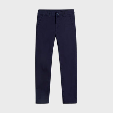 Pantaloni Chino Slim Fit Basic Blu Navy