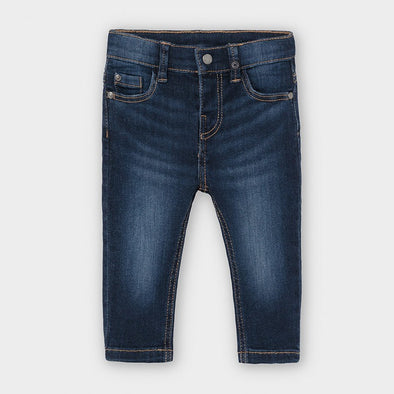 Pantaloni Jeans Slim Fit Basic Scuro