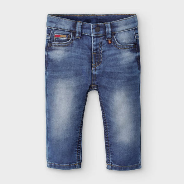 Pantaloni Jeans Soft Denim Blu