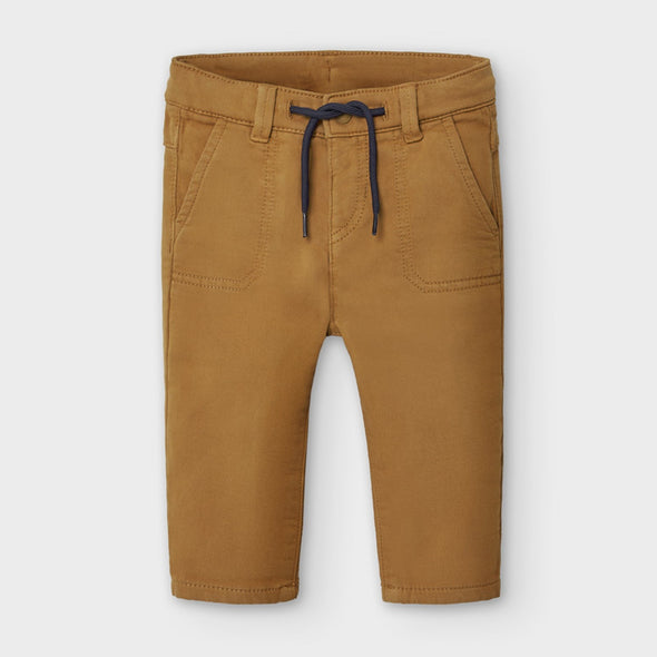 Pantaloni Lunghi Regular Fit Mandorla