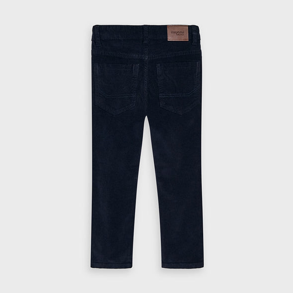 Pantaloni Panno Slim Fit Basic Deep blue