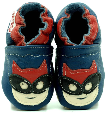 Babbucce Soft Sole Super Hero On Navy Blue | FIORINO | RocketBaby.it