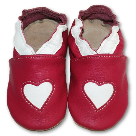 Babbucce Soft Sole Heart On Pink | FIORINO | RocketBaby.it