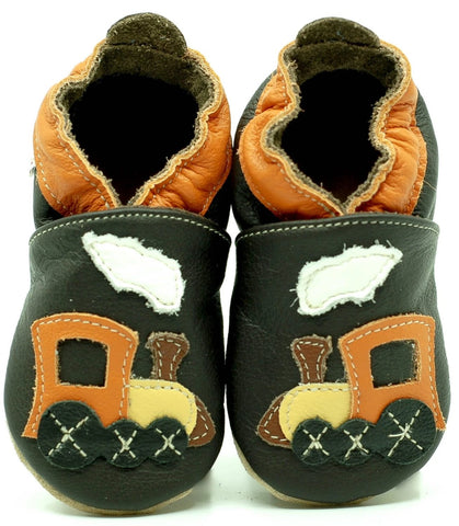 Babbucce Soft Sole Brown Choo-Choo | FIORINO | RocketBaby.it